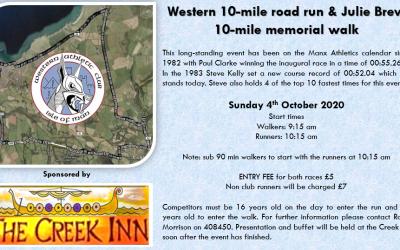 Western 10 mile road run & Julie Brew 10 mile memorial walk